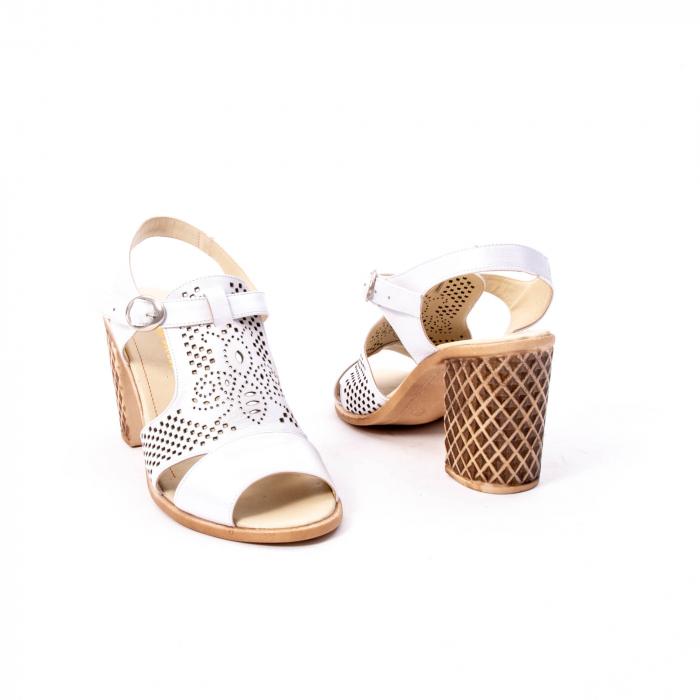 Sandale dama elegante, piele naturala, Nike Invest nk238, alb 2