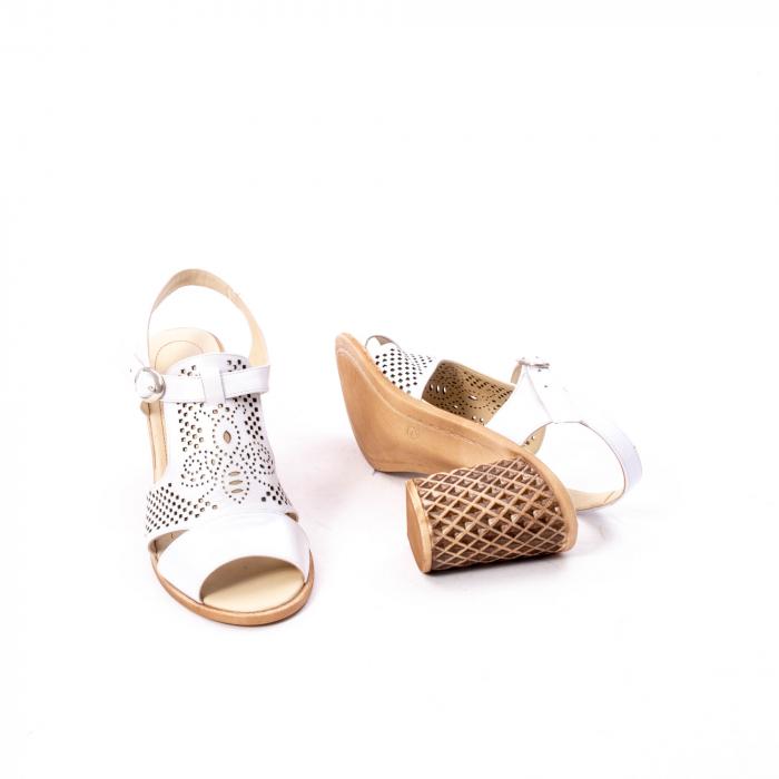 Sandale dama elegante, piele naturala, Nike Invest nk238, alb 3