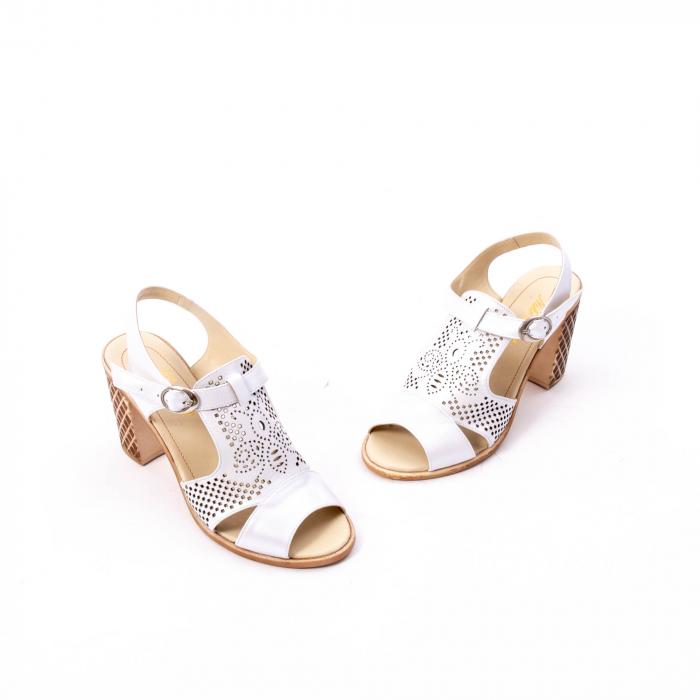 Sandale dama elegante, piele naturala, Nike Invest nk238, alb 1