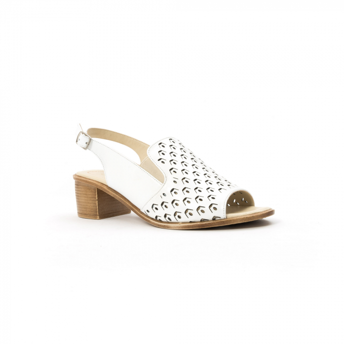 Sandale dama elegante piele naturala Nike Invest 253A, alb 0
