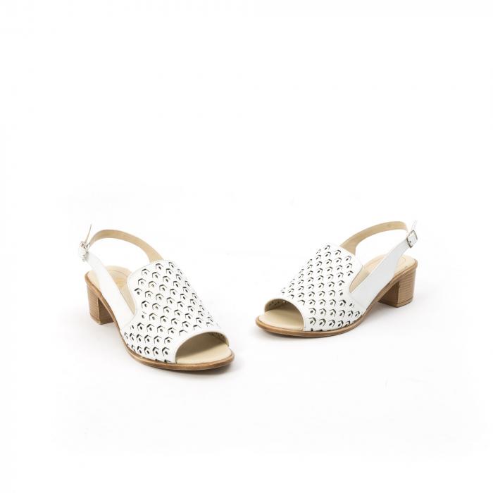 Sandale dama elegante piele naturala Nike Invest 253A, alb 1