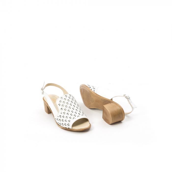 Sandale dama elegante piele naturala Nike Invest 253A, alb 3