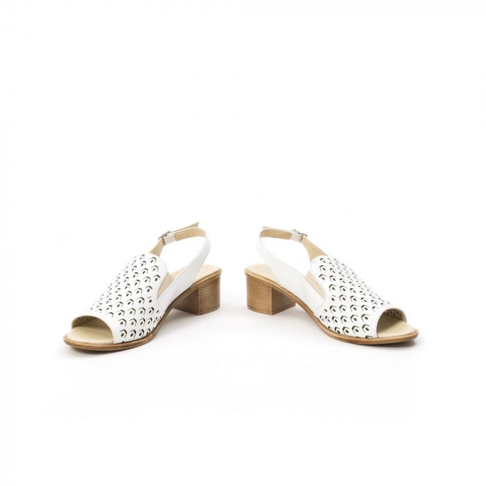 Sandale dama elegante piele naturala Nike Invest 253A, alb 4