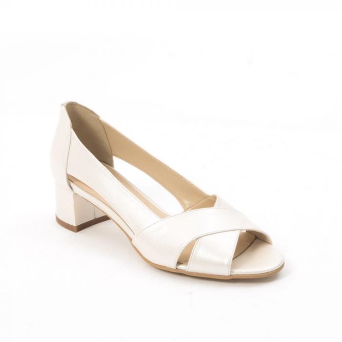 Decupati eleganti de   dama din piele naturala ,culoare alb sidef ,Nike Invest 254 B8 0