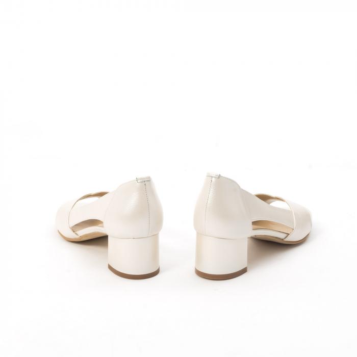 Decupati eleganti de   dama din piele naturala ,culoare alb sidef ,Nike Invest 254 B8 6