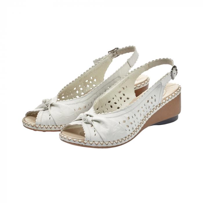 sandale dama rieker albe 3