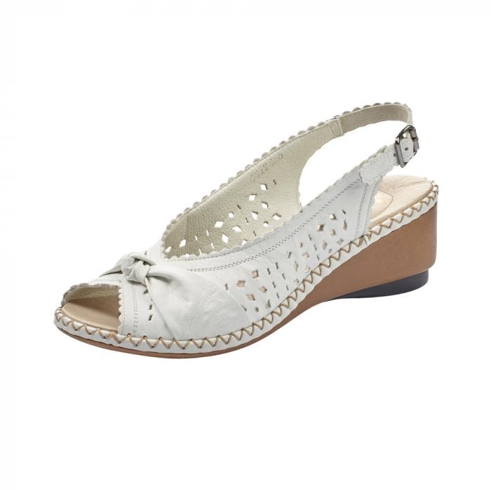 sandale dama rieker albe 0