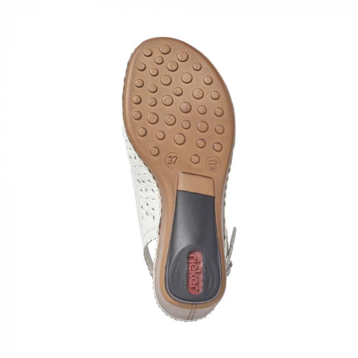 sandale dama rieker albe 4