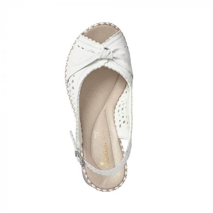 sandale dama rieker albe 1