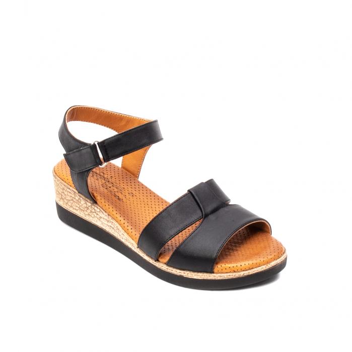 Sandale dama casual, piele naturala, D42007 N 0