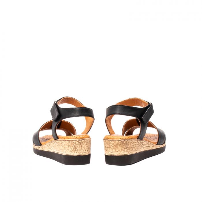 Sandale dama casual, piele naturala, D42007 N 6