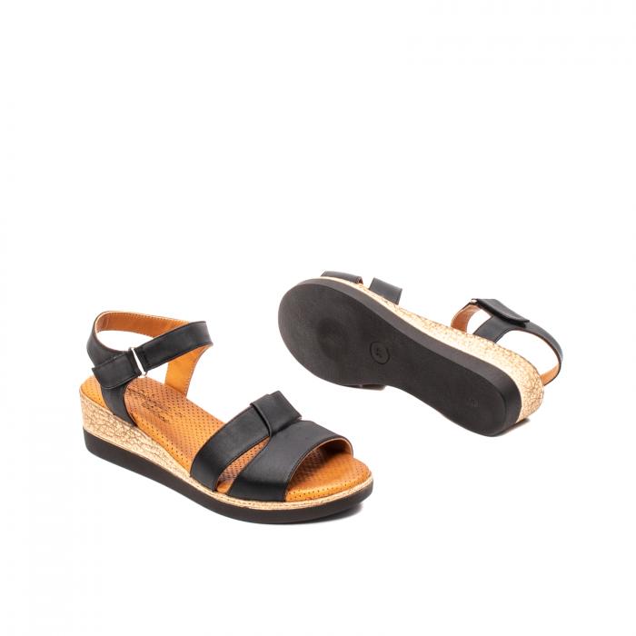 Sandale dama casual, piele naturala, D42007 N 3