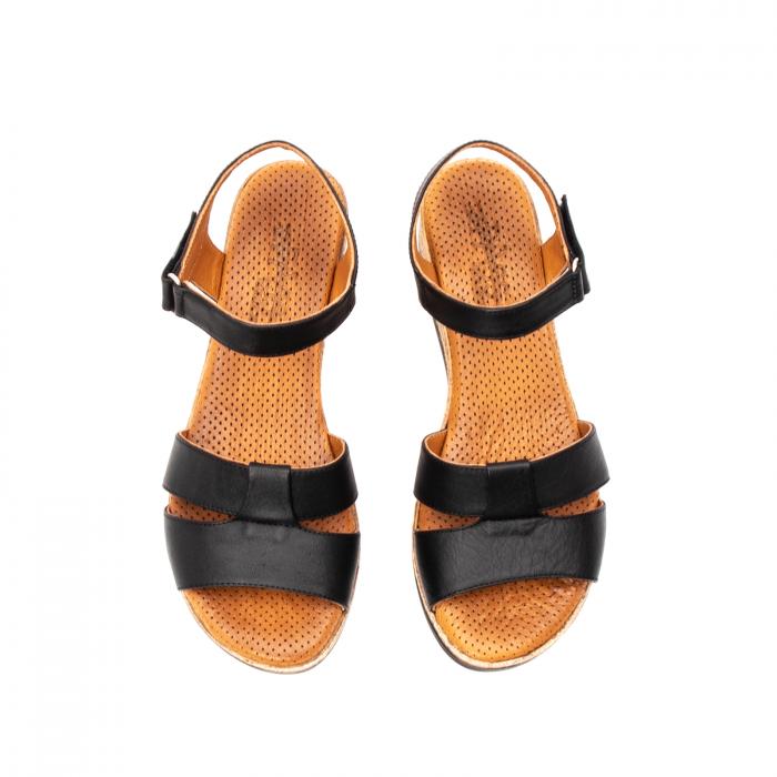 Sandale dama casual, piele naturala, D42007 N 5