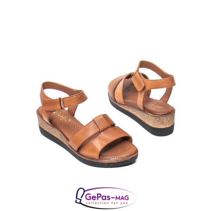 Sandale dama casual, piele naturala, D42007 C [2]