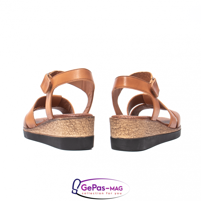 Sandale dama casual, piele naturala, D42007 C [6]