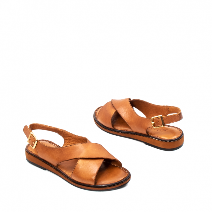 Sandale dama casual, piele naturala, E51203 C 2