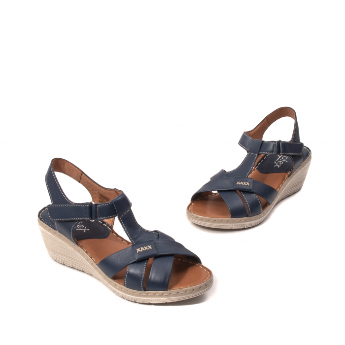 Sandale dama casual, piele naturala Lfx 214-bl 1