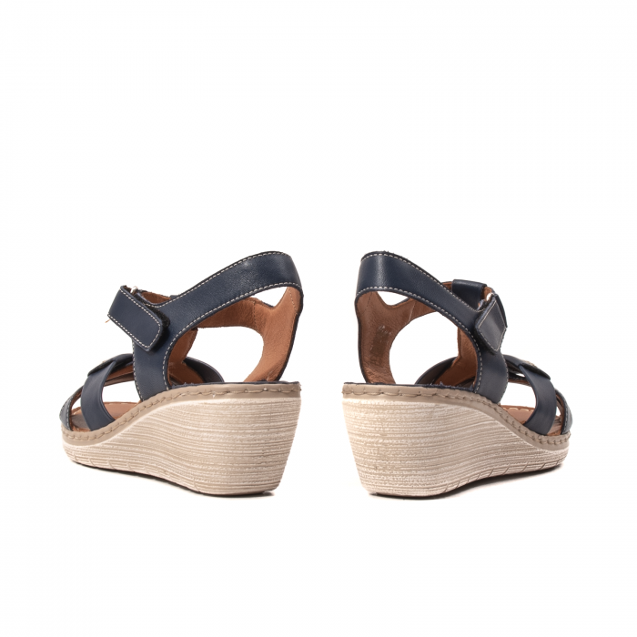 Sandale dama casual, piele naturala Lfx 214-bl 6