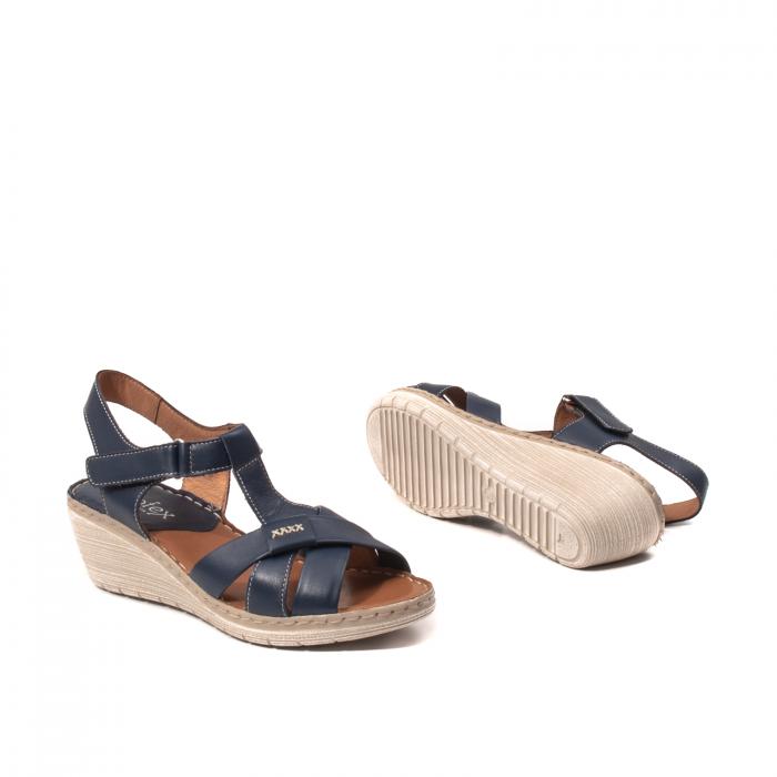 Sandale dama casual, piele naturala Lfx 214-bl 3