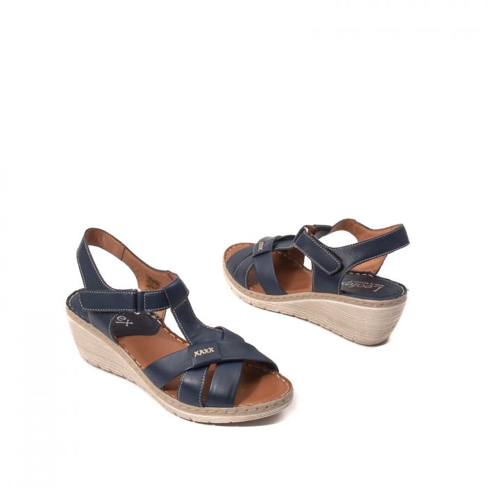 Sandale dama casual, piele naturala Lfx 214-bl 2