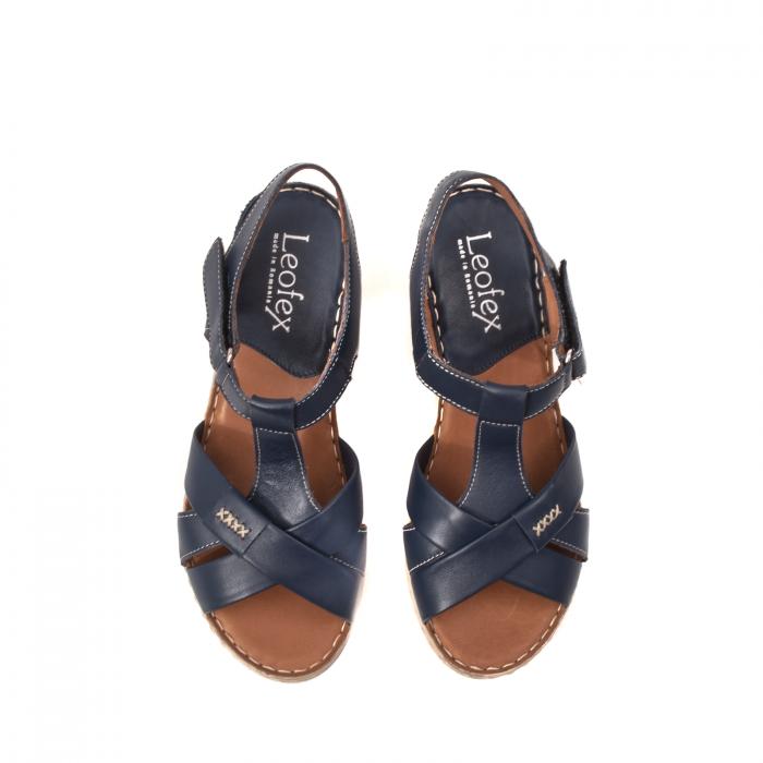 Sandale dama casual, piele naturala Lfx 214-bl 5