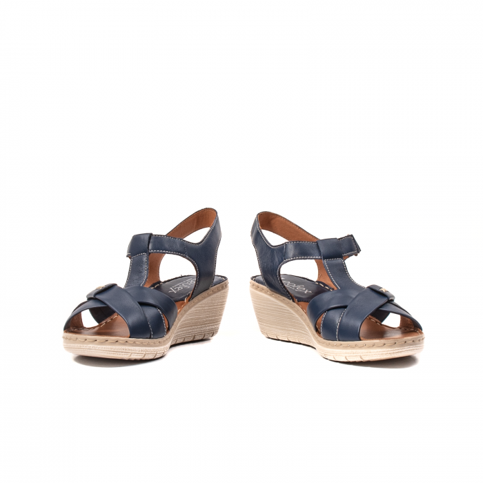 Sandale dama casual, piele naturala Lfx 214-bl 4