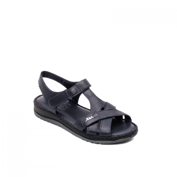 Sandale dama casual, piele naturala, Y2135 BL 0