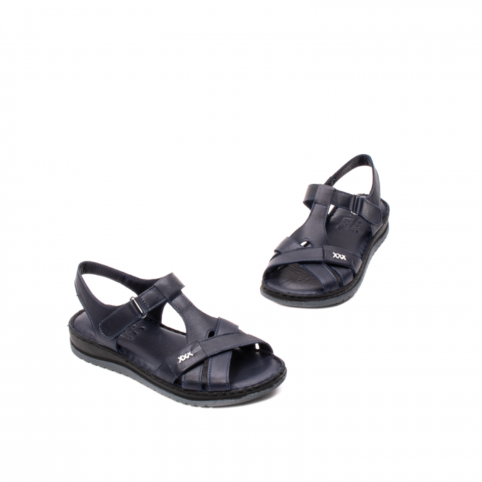 Sandale dama casual, piele naturala, Y2135 BL 1