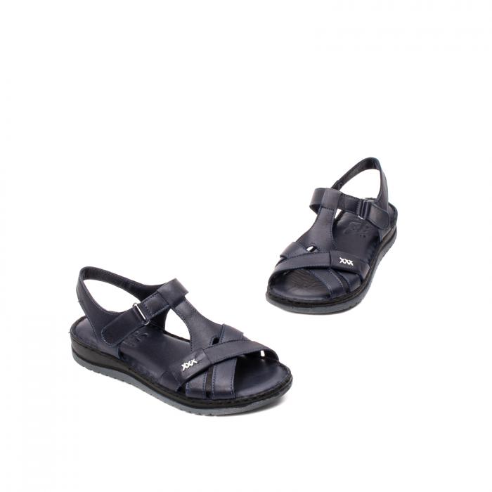 Sandale dama casual, piele naturala, Y2135 BL 1