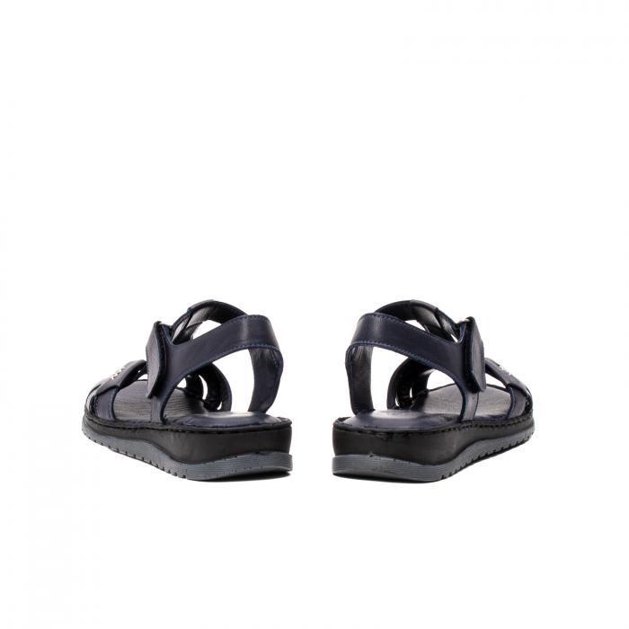 Sandale dama casual, piele naturala, Y2135 BL 6