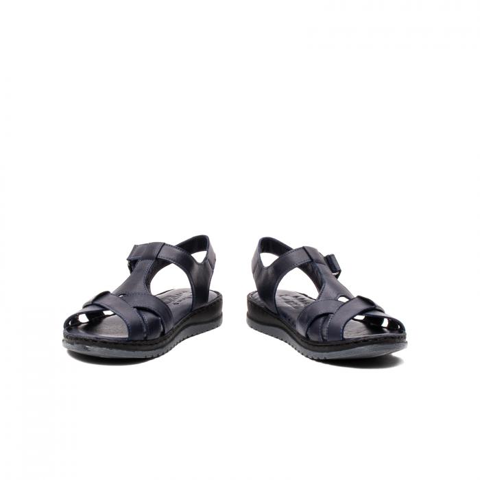 Sandale dama casual, piele naturala, Y2135 BL 4