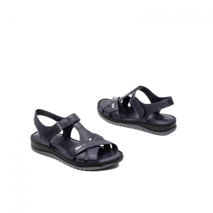 Sandale dama casual, piele naturala, Y2135 BL 2