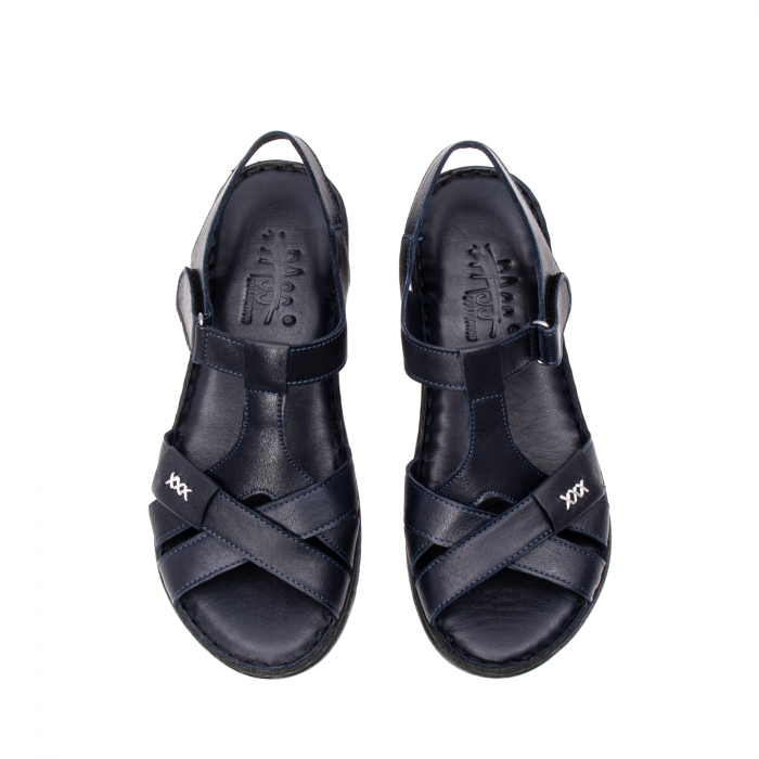 Sandale dama casual, piele naturala, Y2135 BL 5