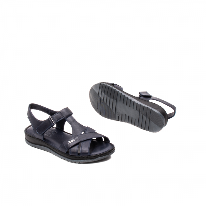 Sandale dama casual, piele naturala, Y2135 BL 3
