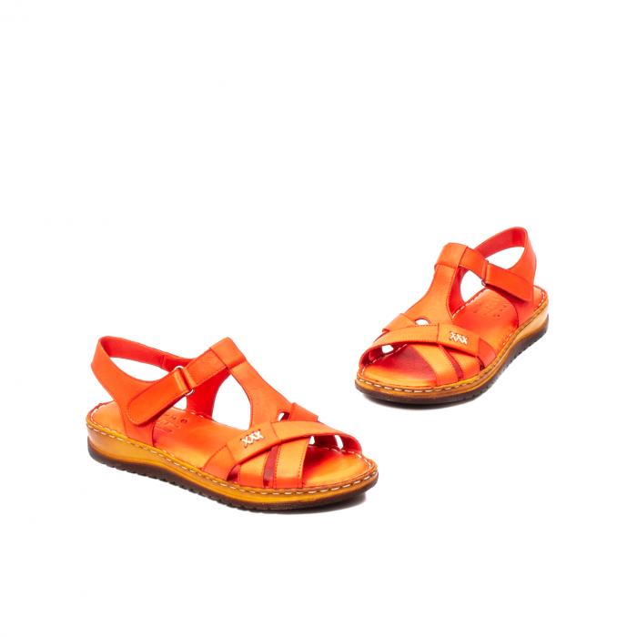 Sandale dama casual, piele naturala, Y2135 R 1