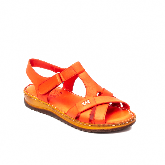 Sandale dama casual, piele naturala, Y2135 R 0