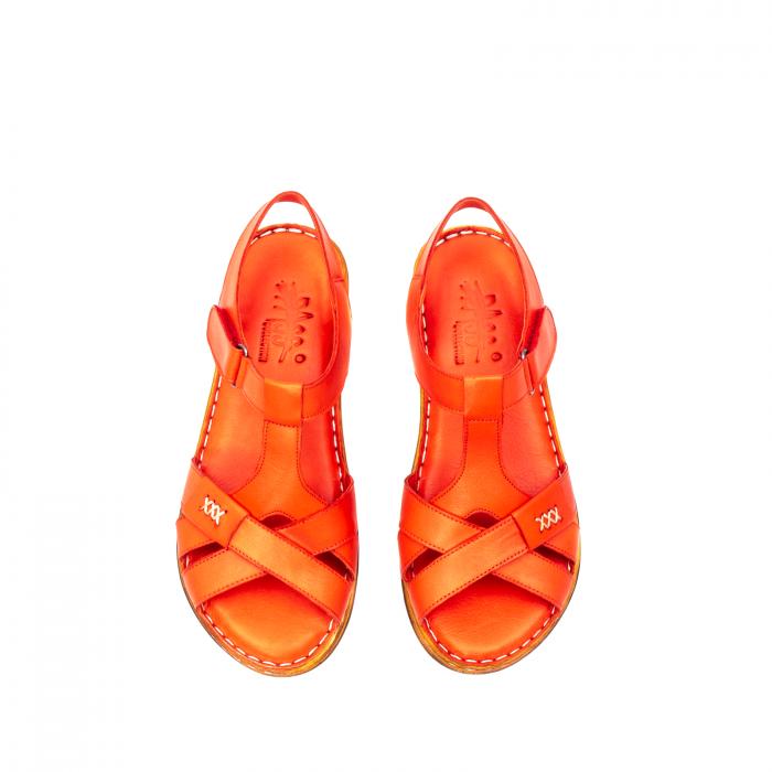 Sandale dama casual, piele naturala, Y2135 R 5