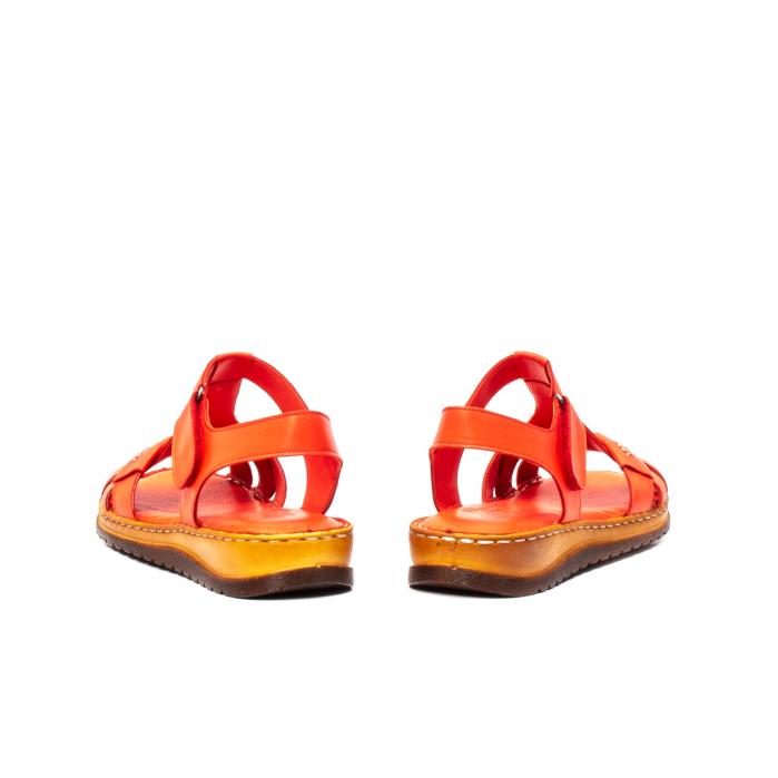 Sandale dama casual, piele naturala, Y2135 R 6