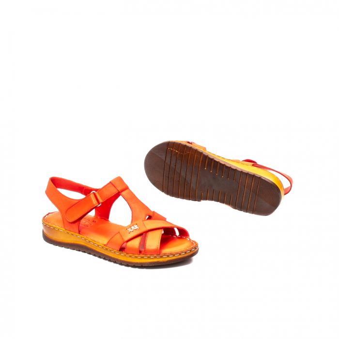 Sandale dama casual, piele naturala, Y2135 R 3