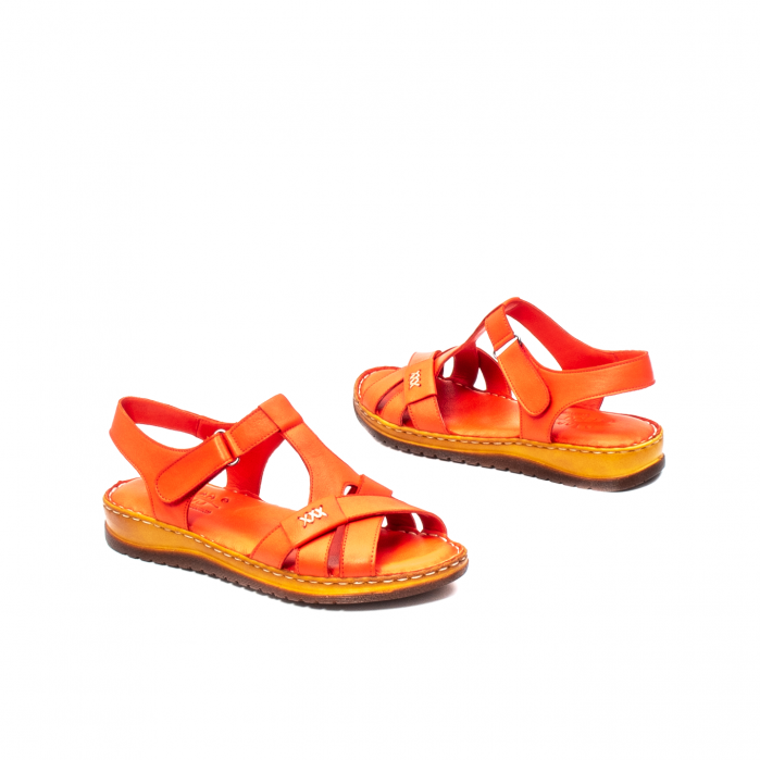 Sandale dama casual, piele naturala, Y2135 R 2