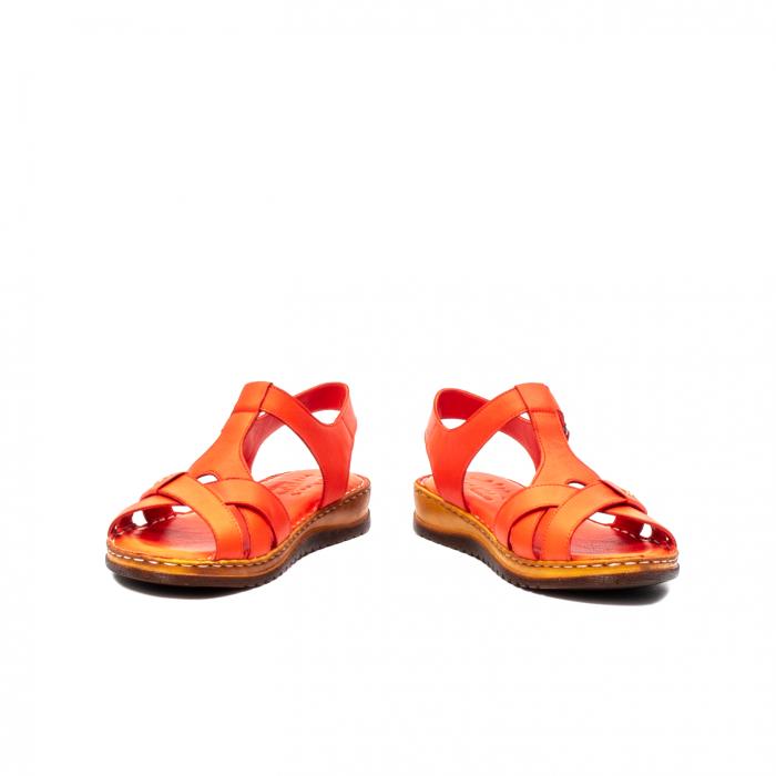 Sandale dama casual, piele naturala, Y2135 R 4