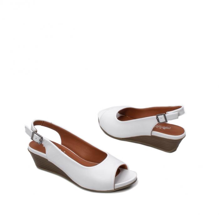 Sandale dama casual, piele naturala, ZJ606-3 A 2