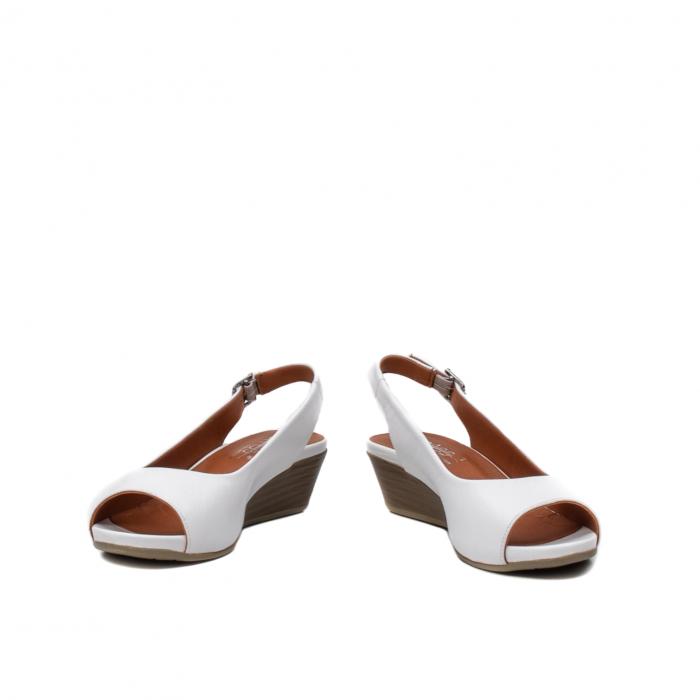 Sandale dama casual, piele naturala, ZJ606-3 A 4