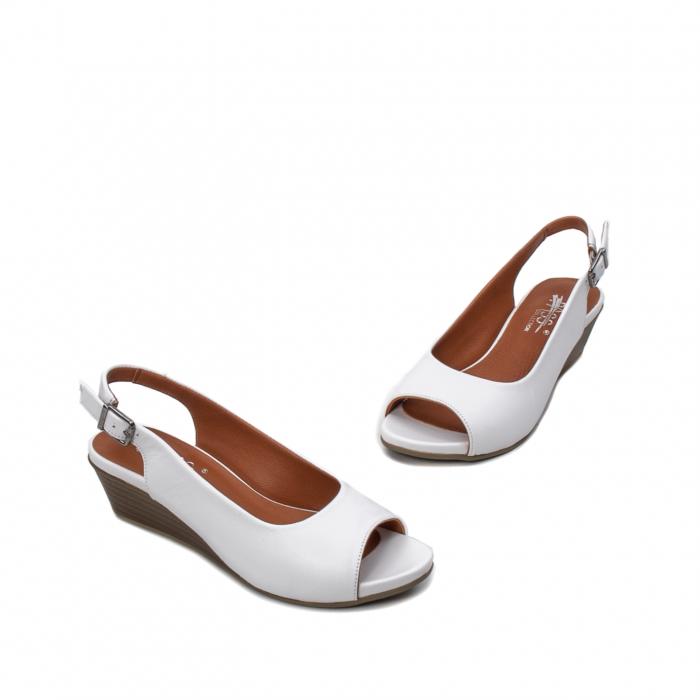 Sandale dama casual, piele naturala, ZJ606-3 A 1