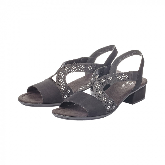 Sandale dama elegante, piele ecologica, RIK V6216-00 N 1