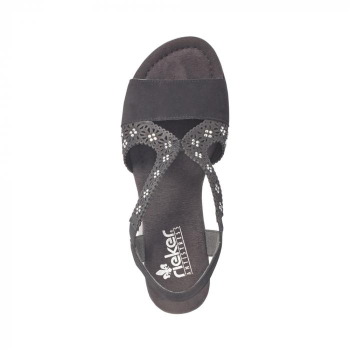Sandale dama elegante, piele ecologica, RIK V6216-00 N 4