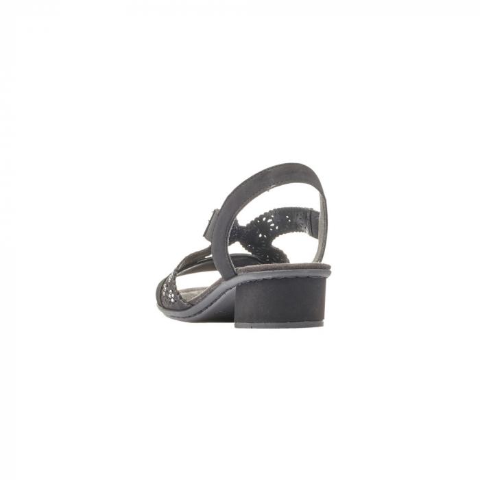Sandale dama elegante, piele ecologica, RIK V6216-00 N 3