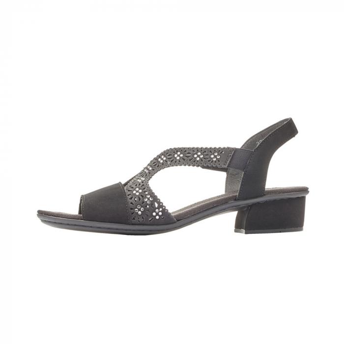 Sandale dama elegante, piele ecologica, RIK V6216-00 N 5