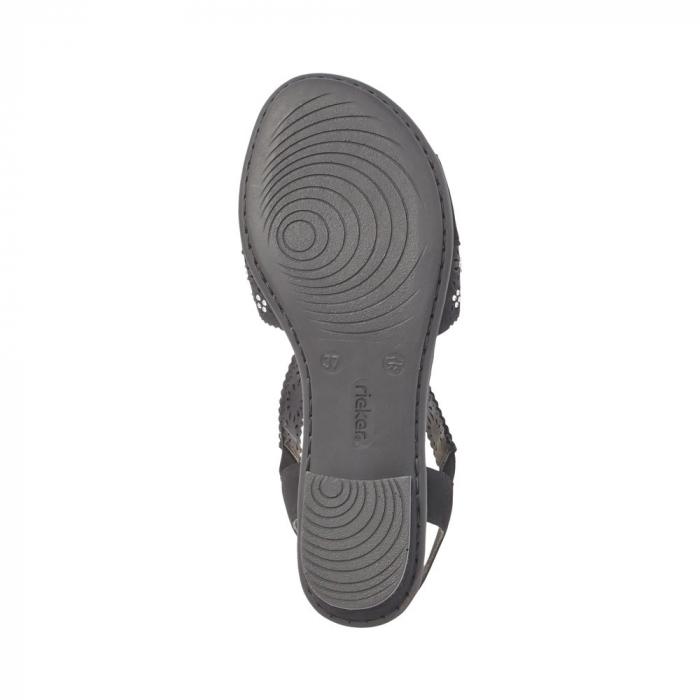 Sandale dama elegante, piele ecologica, RIK V6216-00 N 2