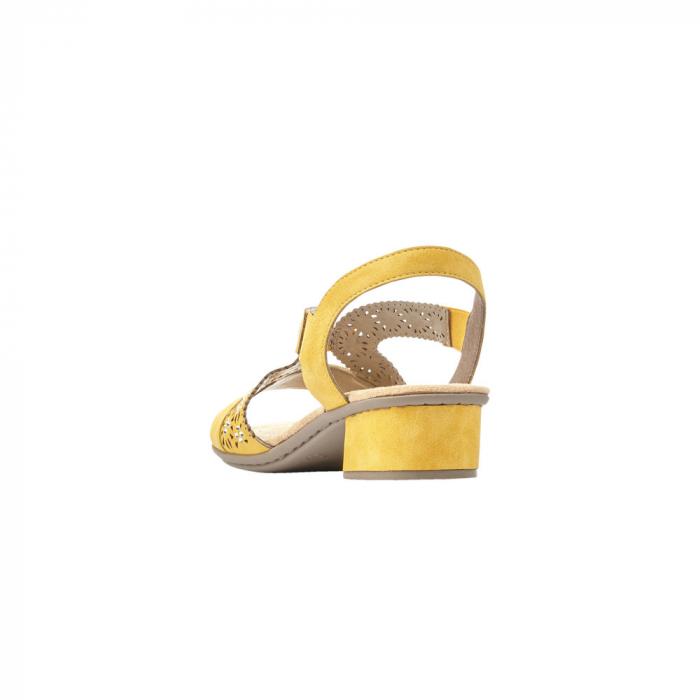 Sandale dama elegante, piele ecologica, RIK V6216-68 4